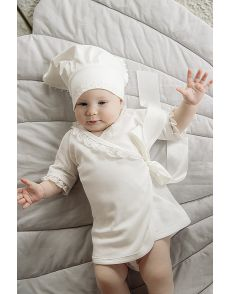 Комплект для крещения (платье и косынка)